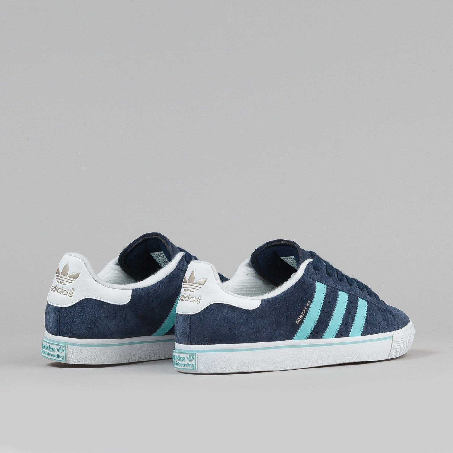 Adidas Campus Vulc 'Gonz' Shoes - Collegiate Navy / Ocean / White