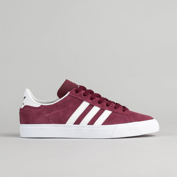 Adidas Campus Vulc II ADV Shoes - Maroon / White / White