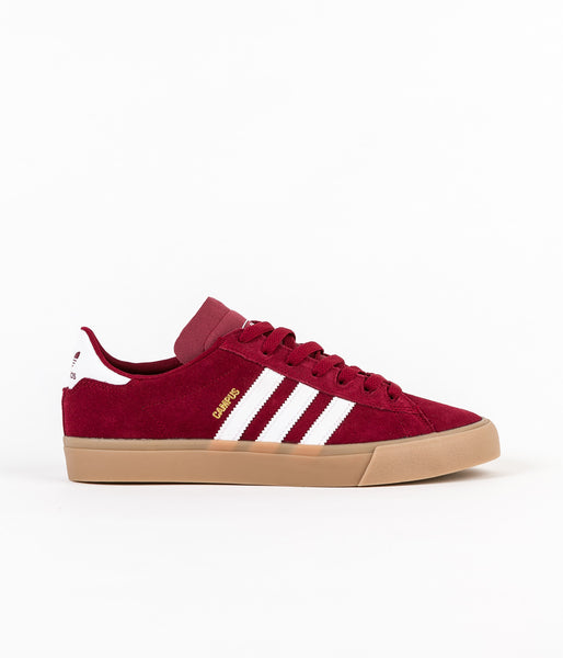 Adidas Campus Vulc II Adv Shoes - Collegiate Burgundy / White / Gum4