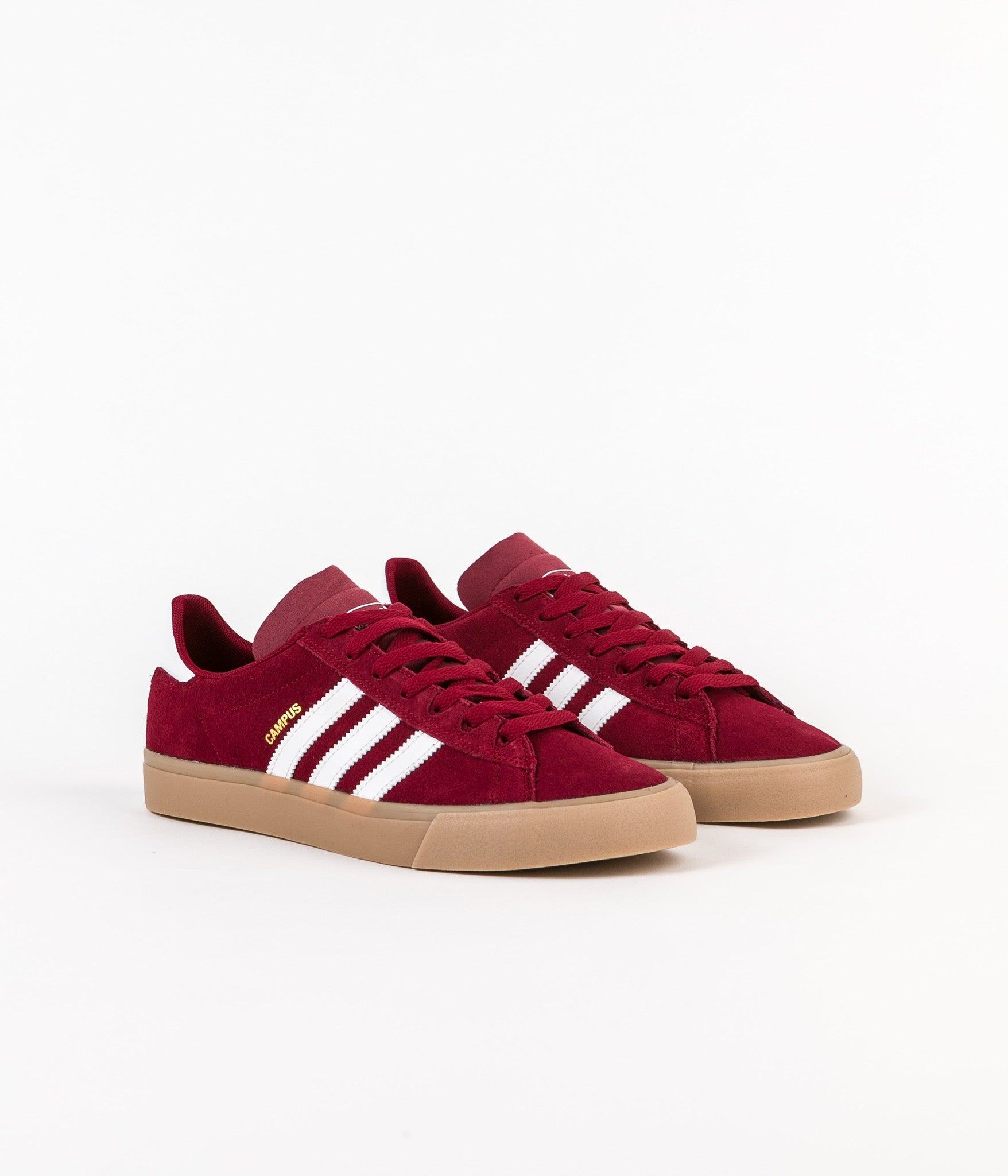 new styles cde77 735d8 ... Adidas Campus Vulc II Adv Shoes - Collegiate Burgundy   White   Gum4 ...