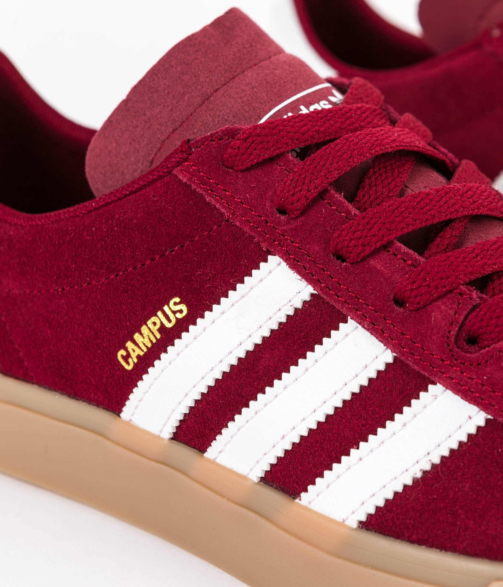 huge selection of 81fdf 1df91 ... Adidas Campus Vulc II Adv Shoes - Collegiate Burgundy  White  Gum4 ...