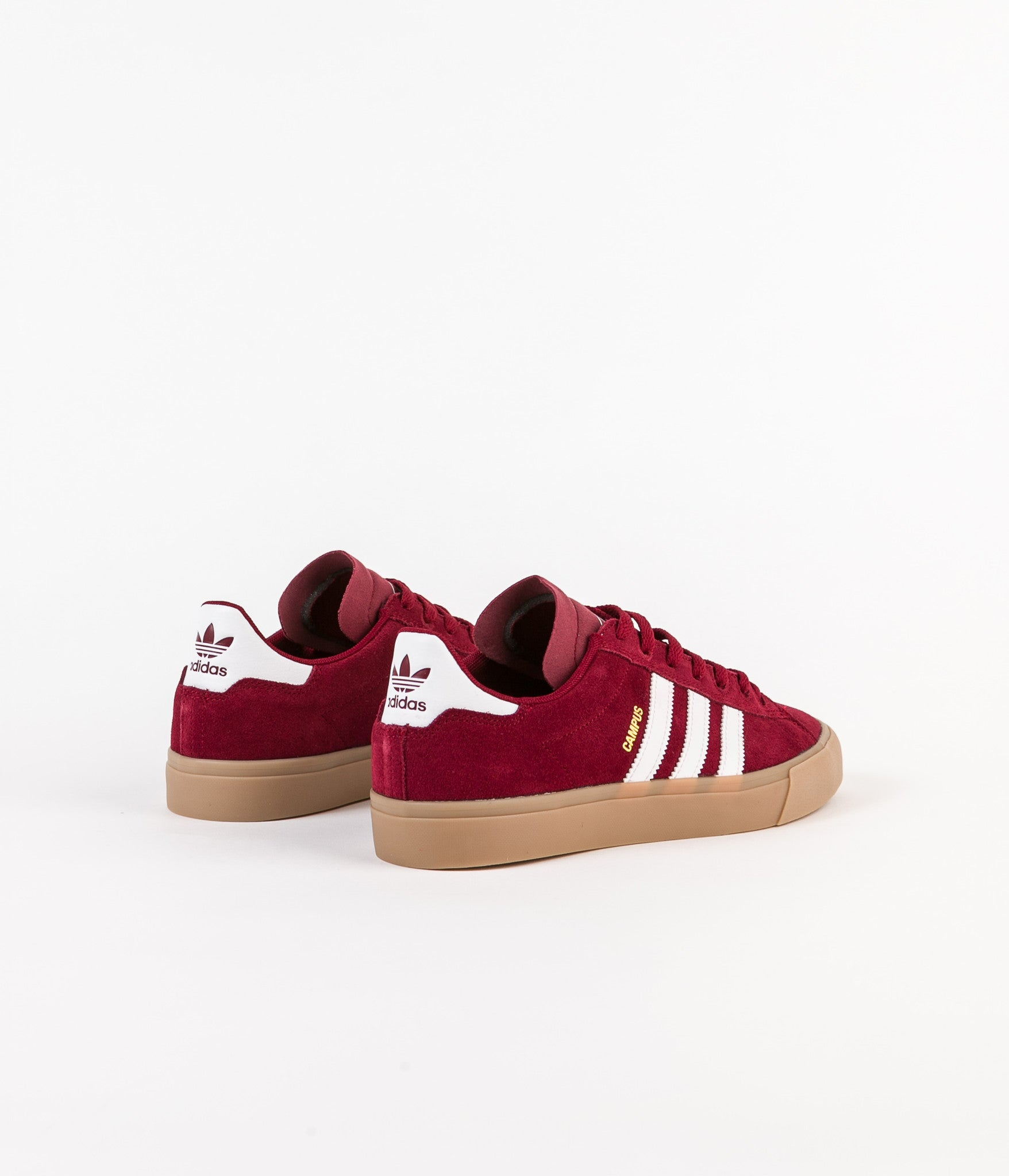 huge selection of b45ab a9e0d ... Adidas Campus Vulc II Adv Shoes - Collegiate Burgundy  White  Gum4 ...
