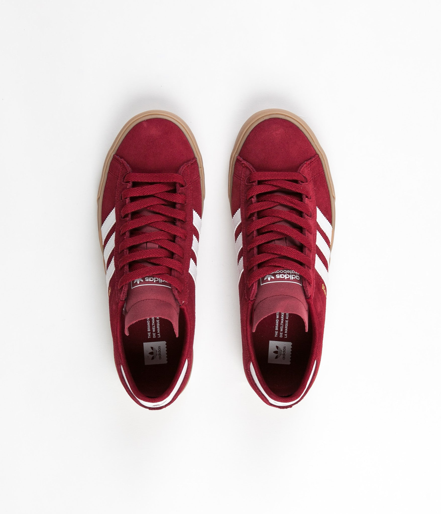 best sneakers 279d8 af8cb Adidas Campus Vulc II Adv Shoes - Collegiate Burgundy  White