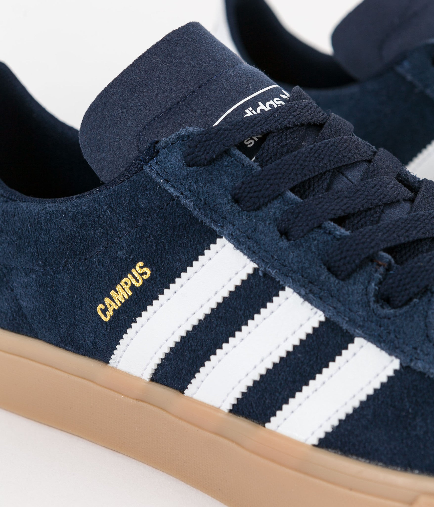 Adidas Campus Vulc II Adv Shoes - Collegiate Navy / White / Gum4