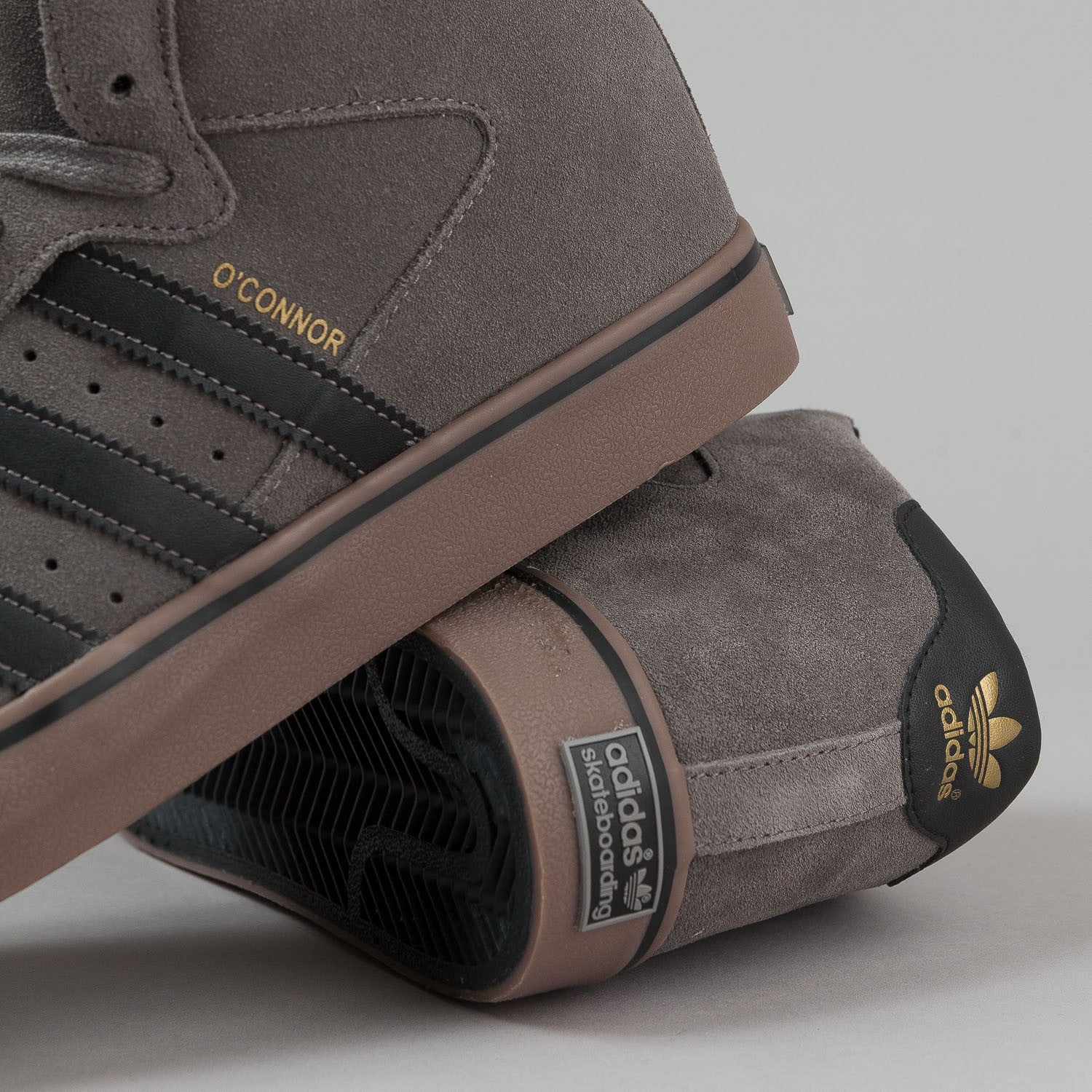 Adidas Campus Vulc Mid 'O'Connor' Shoes - Iron / Black / Metallic Gold