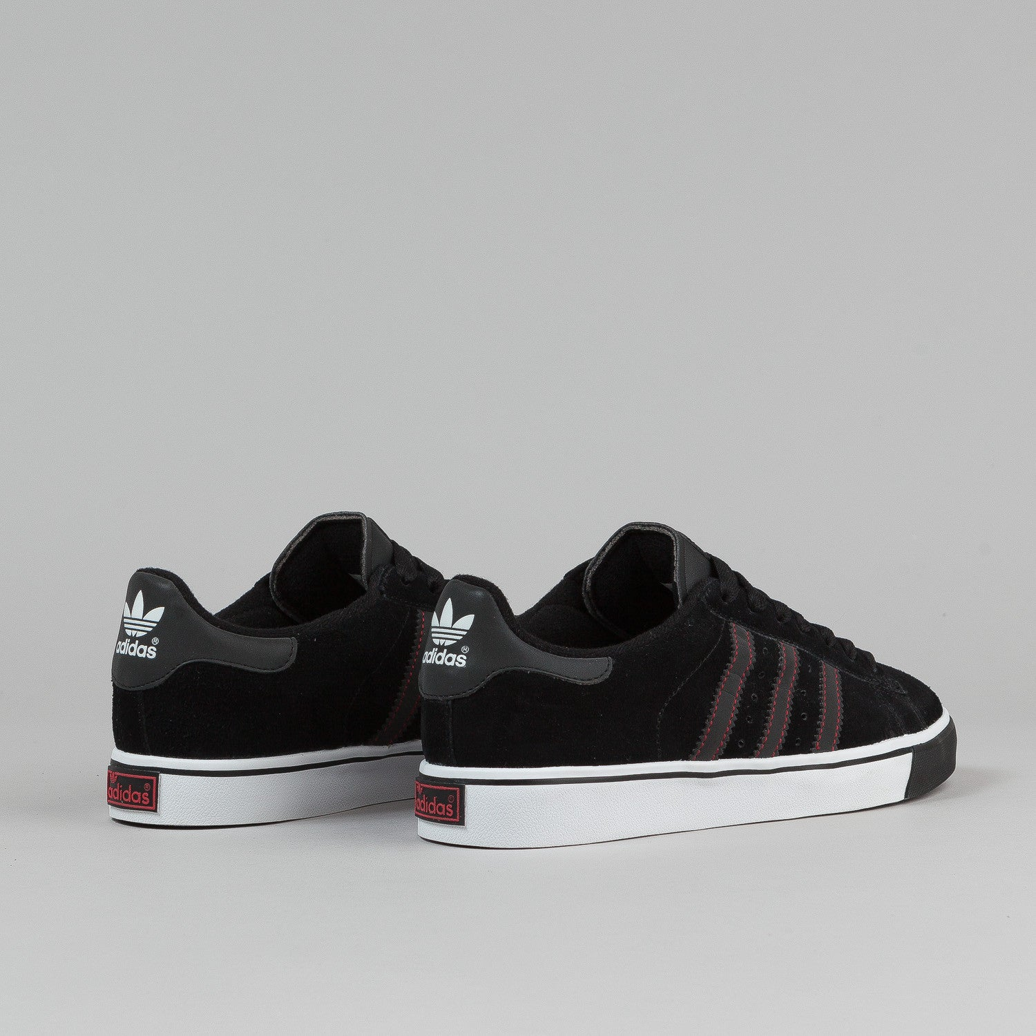 Adidas Campus Vulc Shoes - Black / Running White
