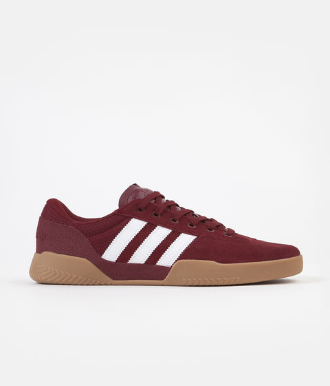 Adidas City Cup Shoes - Collegiate Burgundy / White / Gum4