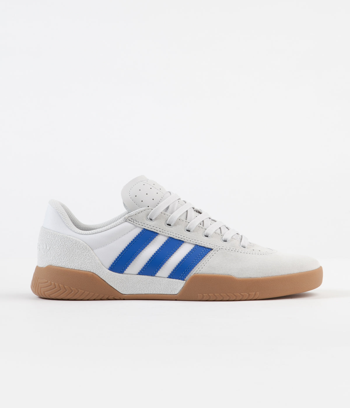 Adidas City Cup Shoes - Crystal White / Blue / Gum4