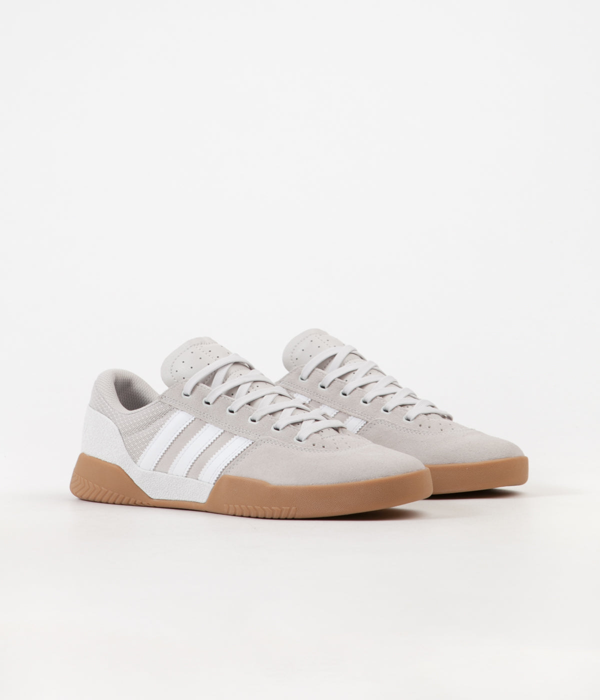 Adidas City Cup Shoes - Crystal White / Chalk Pearl / Gum4