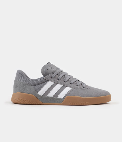 Adidas City Cup Shoes - Grey Three / FTW White / Gum4