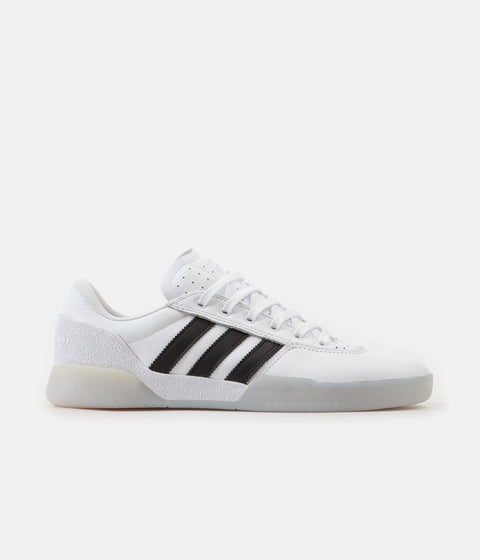 Adidas City Cup Shoes - White / Core Black / Light Solid Grey