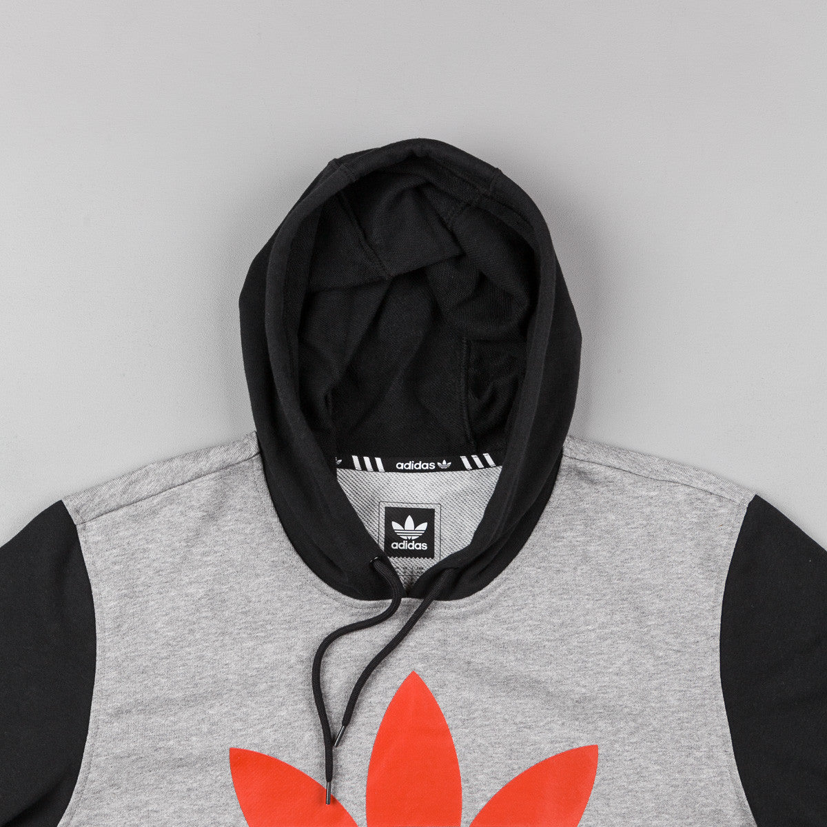 Adidas Clima 3.0 Solid Hooded Sweatshirt - Core Heather / Black / Chili