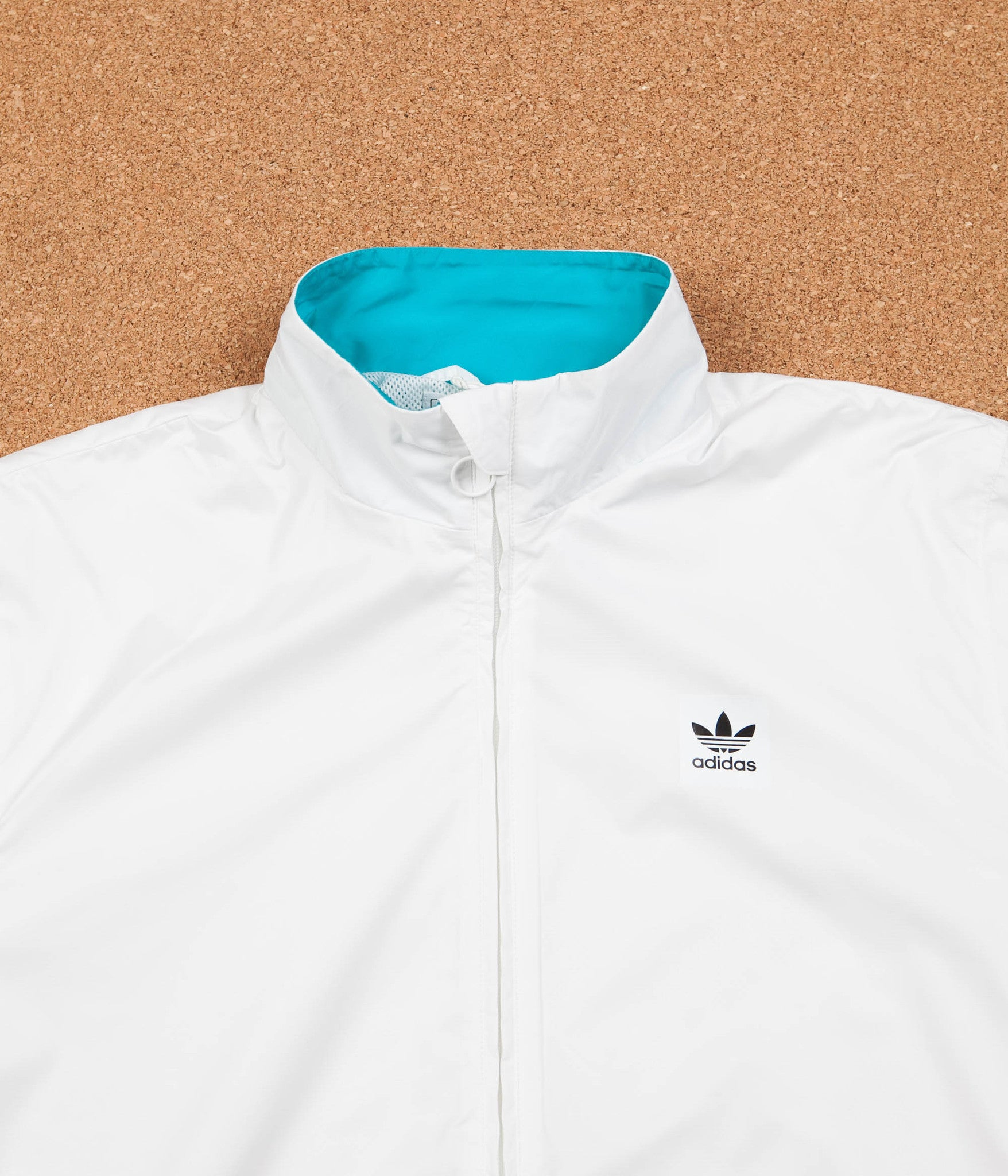 Adidas Courtside Jacket - White / Energy Blue / Energy / Black