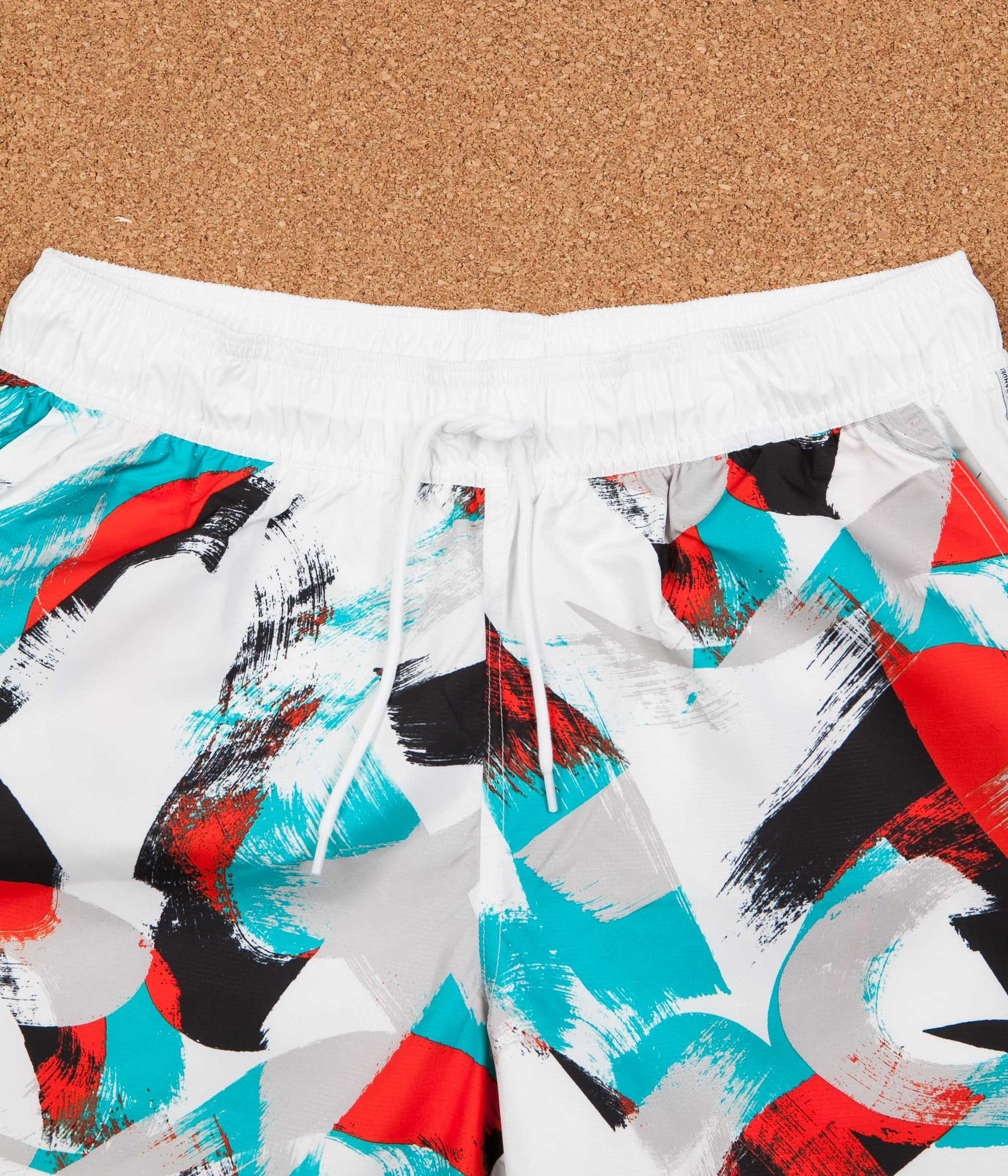 Adidas Courtside Shorts - White / Energy Blue / Energy / Black