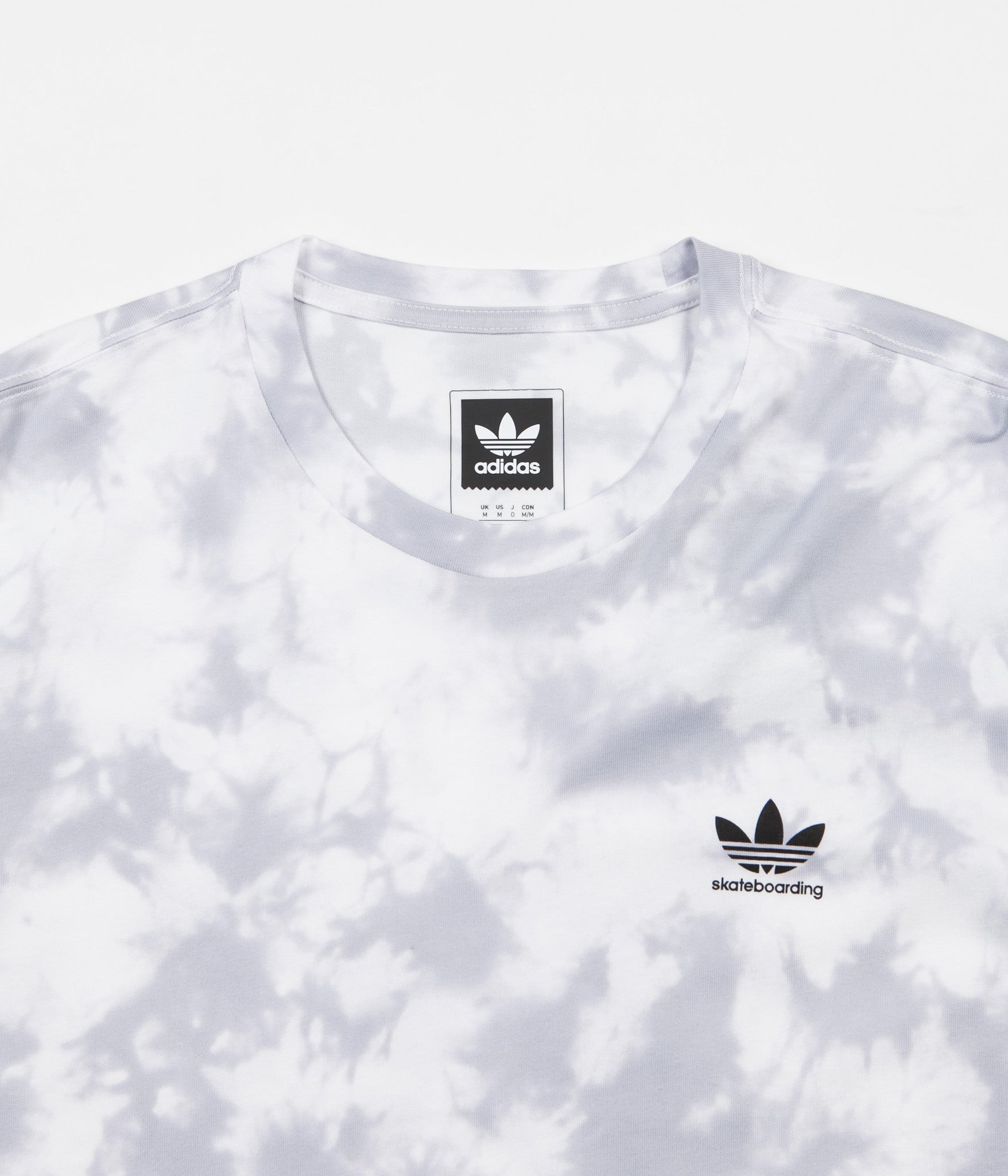 Adidas CS Clima 2.0 All Over Print T-Shirt - Clear Grey / White