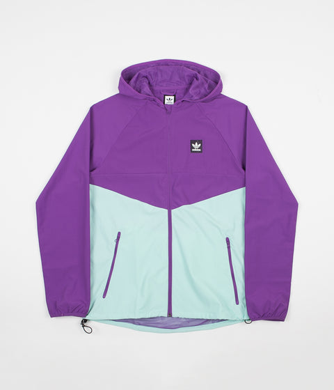 Adidas Dekum Packable Jacket - Active Purple / Clear Mint