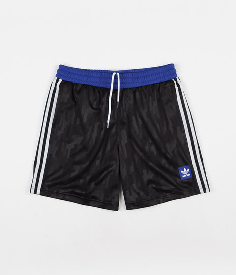 Adidas Dodson Shorts - Black / White / Active Blue