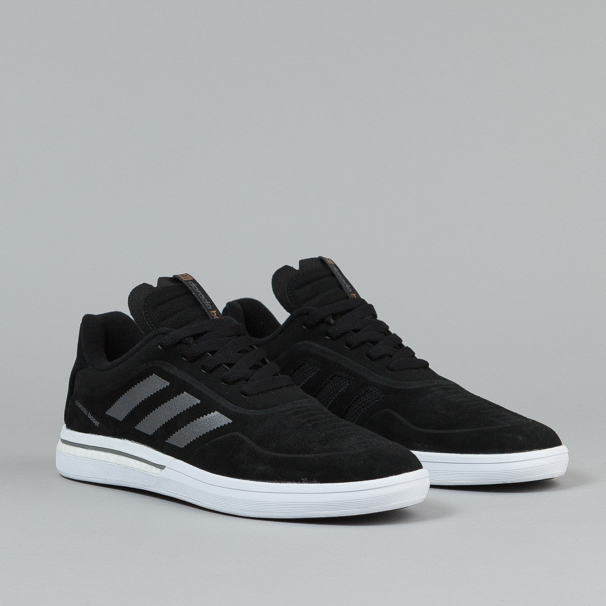 Adidas Dorado ADV Boost Shoes - Core Black / Iron Metallic / Running White