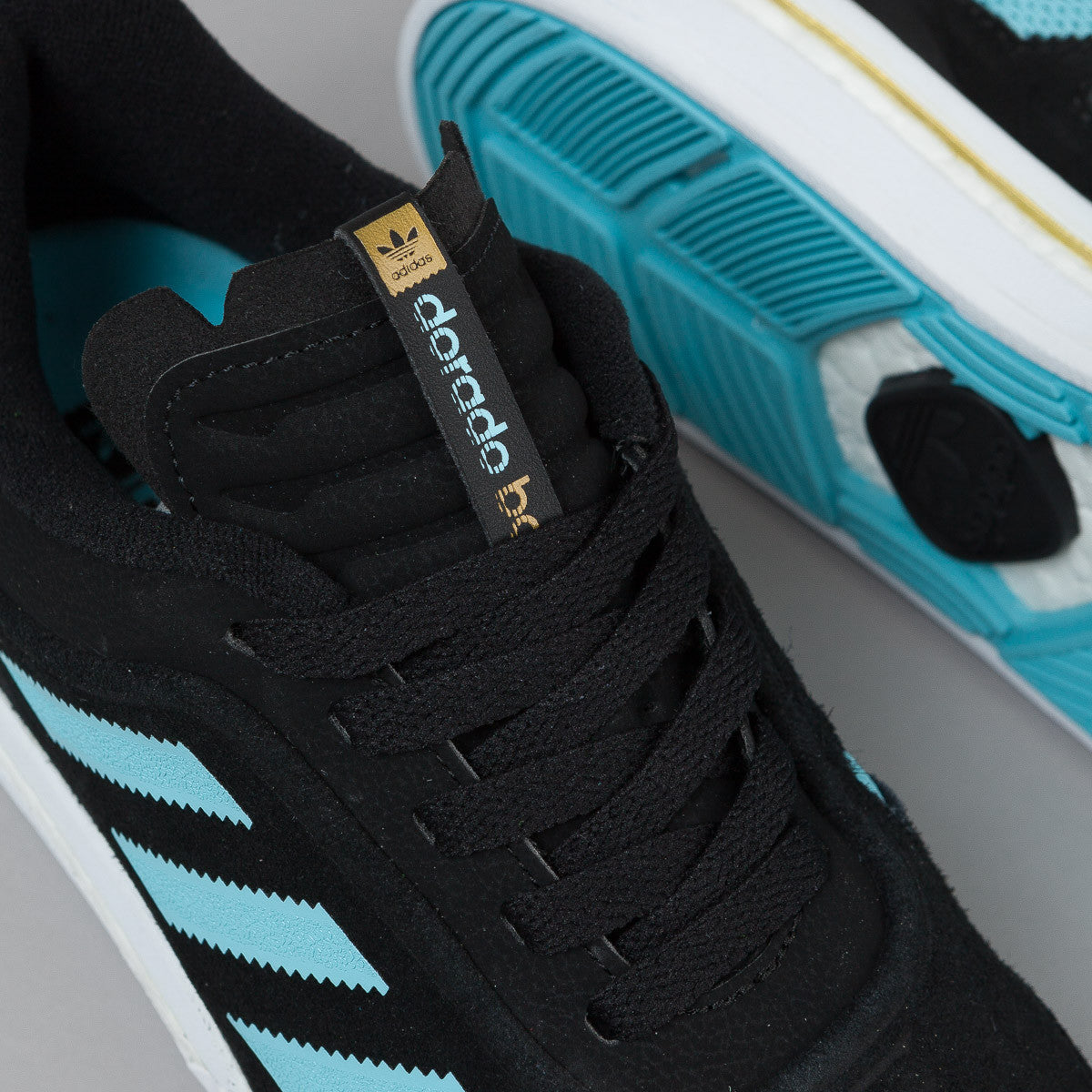 Adidas Dorado ADV Boost Shoes - Core Black / Light Aqua / Gold Metallic