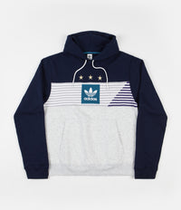 Adidas Elevated 3 Hoodie - Collegiate Navy / Pale Melange / Active Teal / Collegiate Purple
