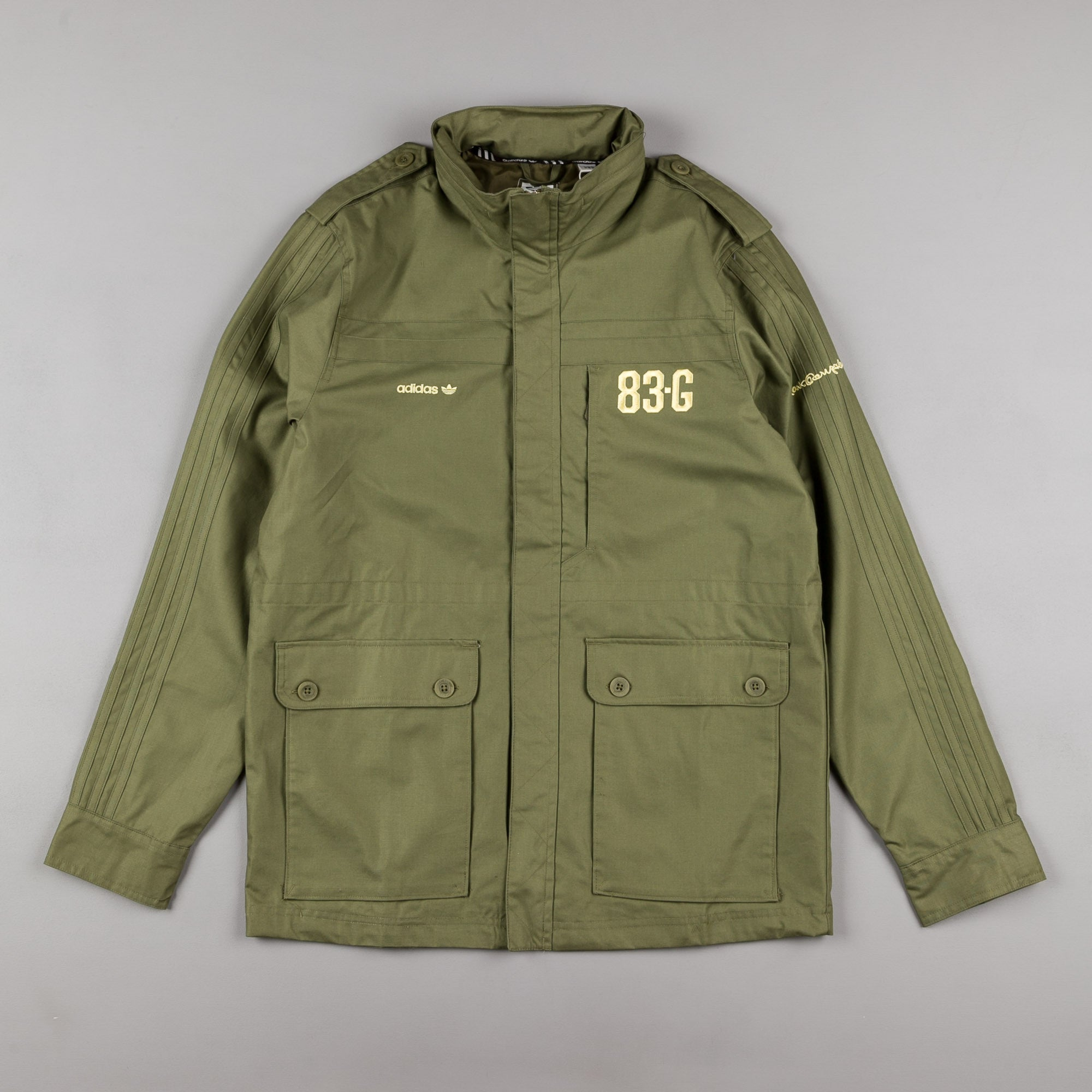 Adidas 83G Military Field Jacket - Olive Cargo