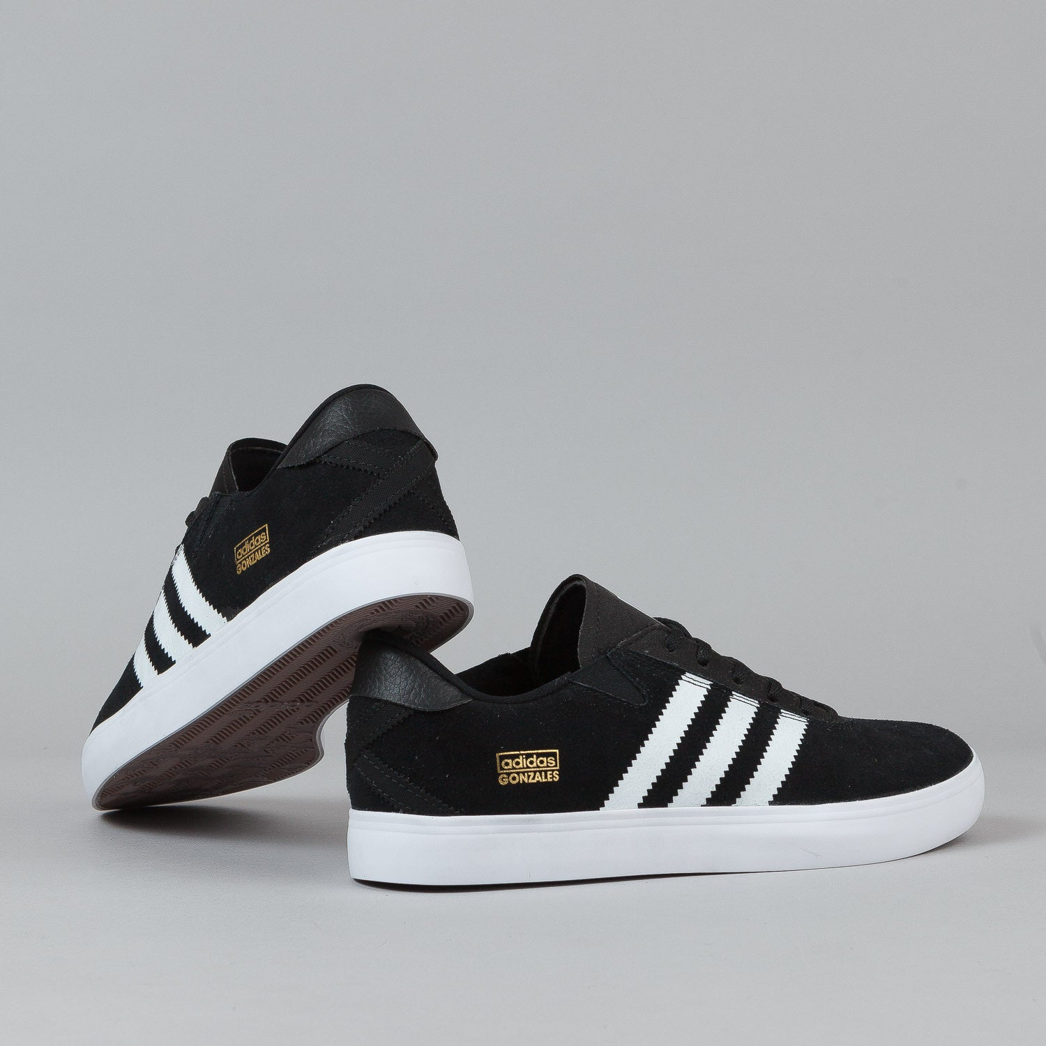Adidas Gonz Pro Shoes - Black / White / Black