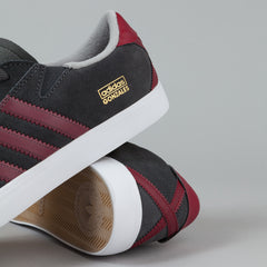 Adidas Gonz Pro Shoes - DGH Solid Grey / Collegiate Burgundy / FTWR White