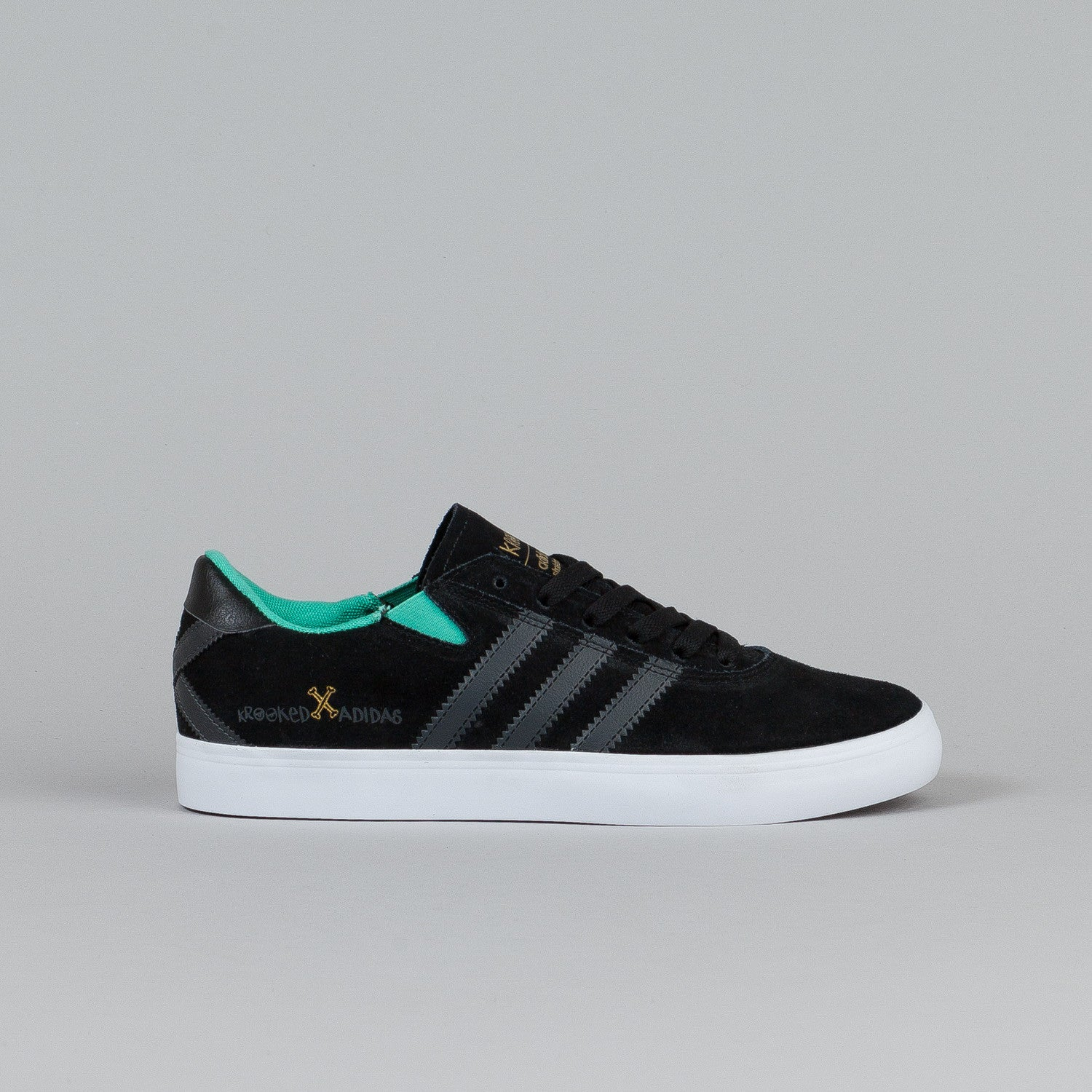 Adidas Gonz Pro X Krooked Black / Solid Grey / Solo Mint