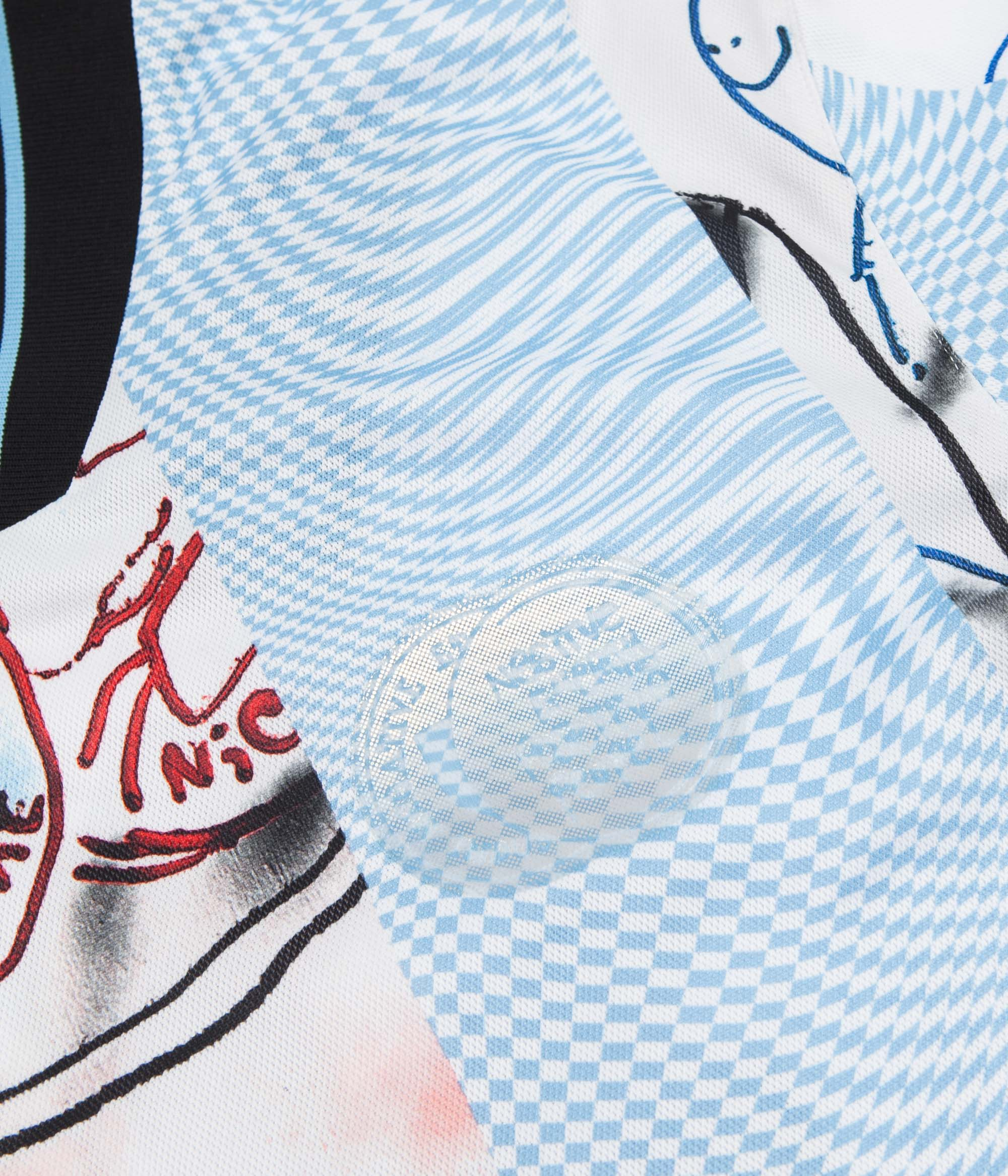 Adidas Gonzales Jersey - Black / White / Clear Blue / Multicolour