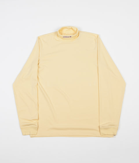 Adidas High Collar Long Sleeve T-Shirt - Easy Yellow / Active Purple