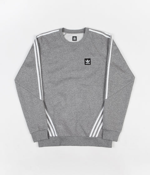 Adidas Insley Crewneck Sweatshirt - Core Heather / White