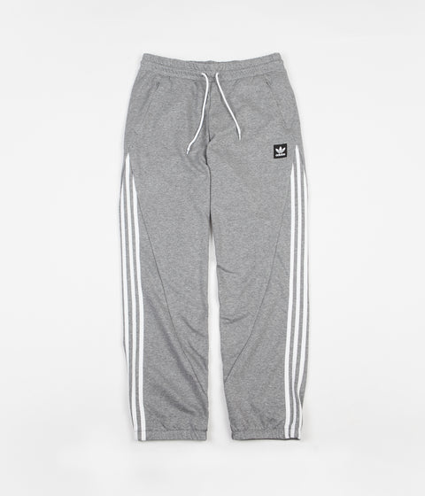 Adidas Insley Sweatpants - Medium Grey Heather / White