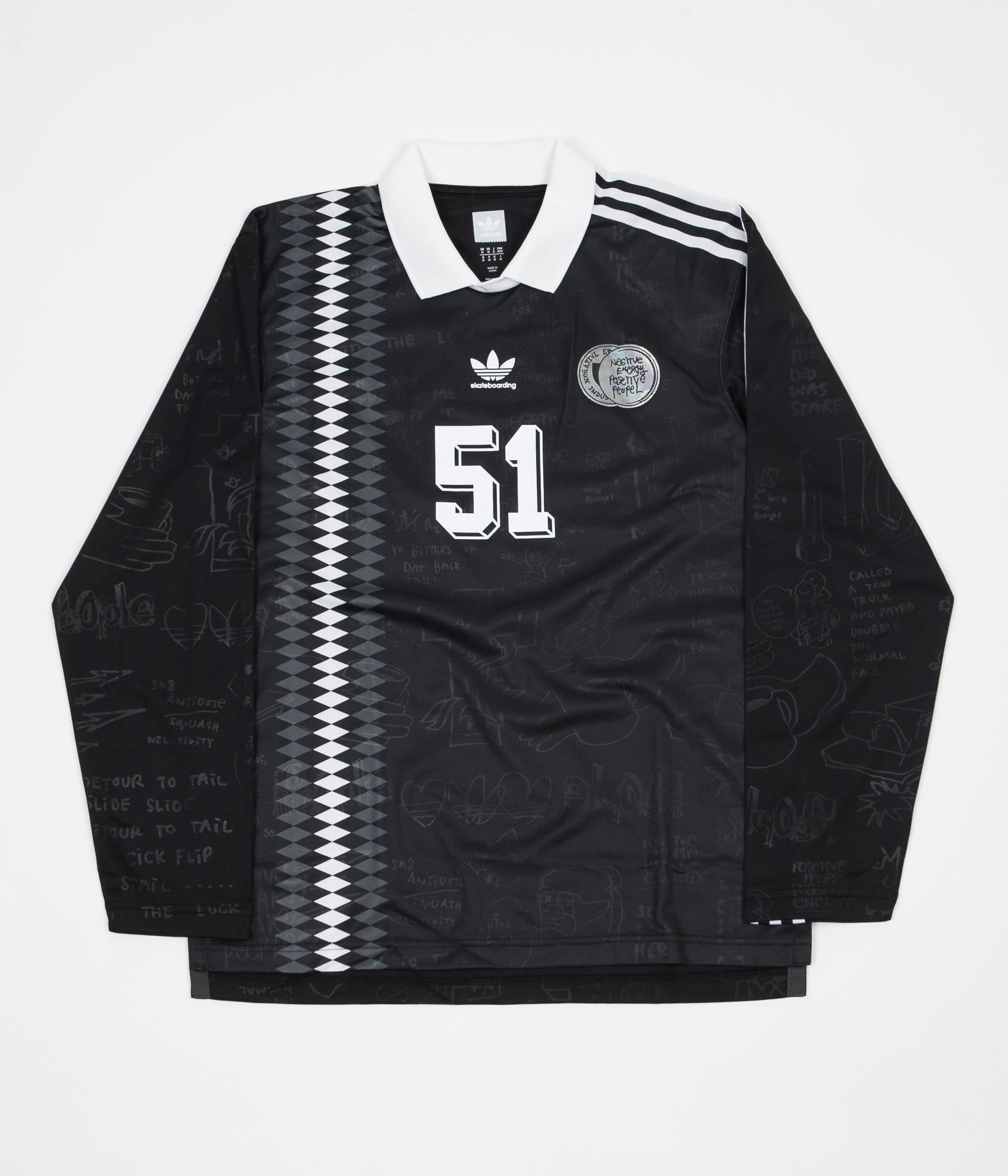 Adidas Johnson Jersey - Black / White / DGH Solid Grey