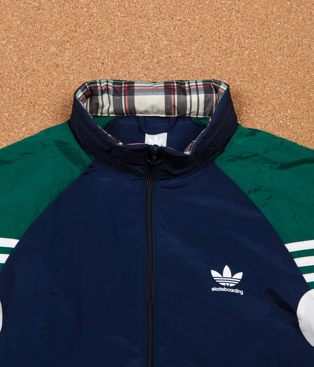 Adidas Lightweight Track Jacket - Night Indigo / Collegiate Green / White