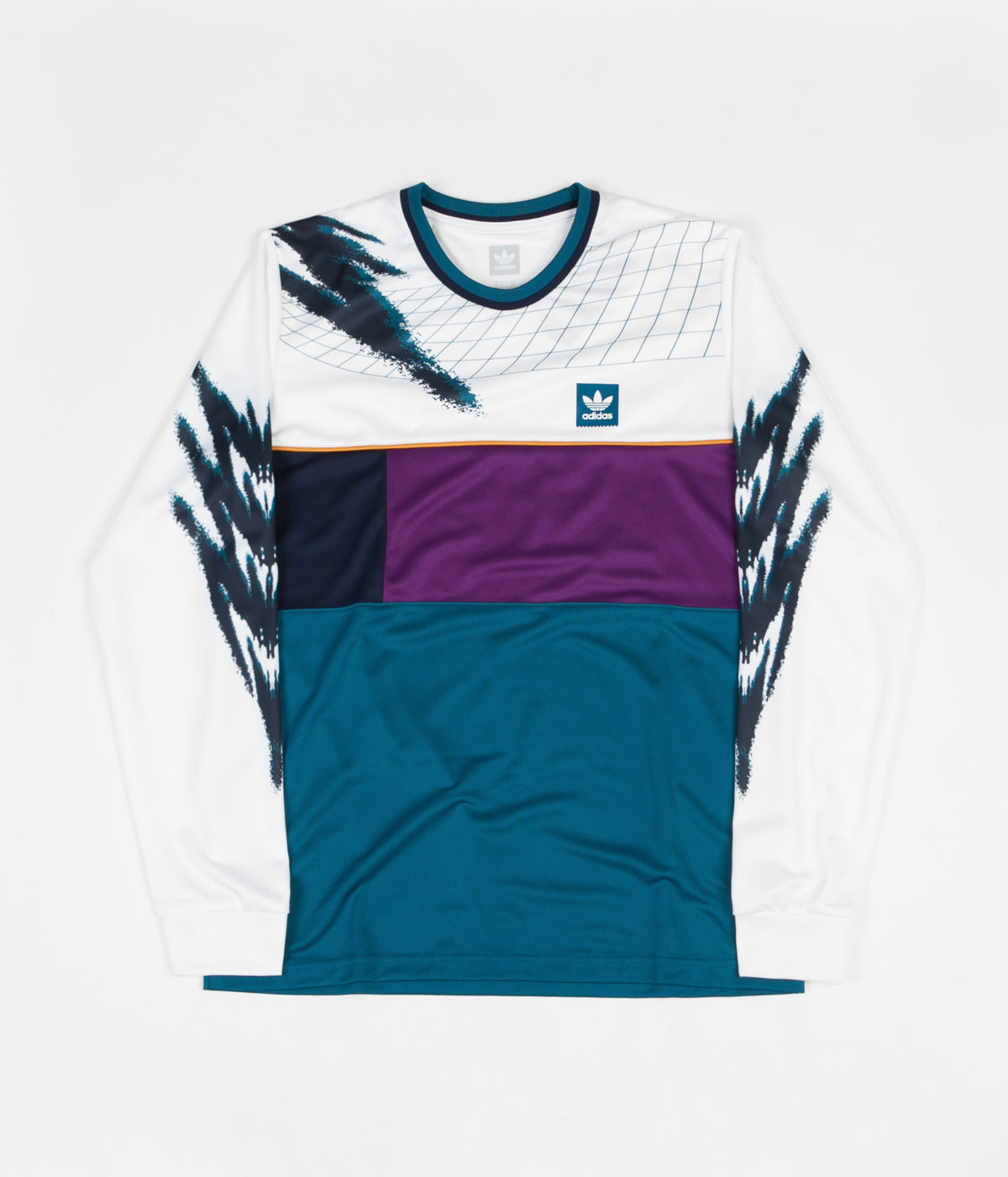 pretty nice 7a213 b30d1 Adidas Long Sleeve Tennis Jersey - White / Tribe Purple ...