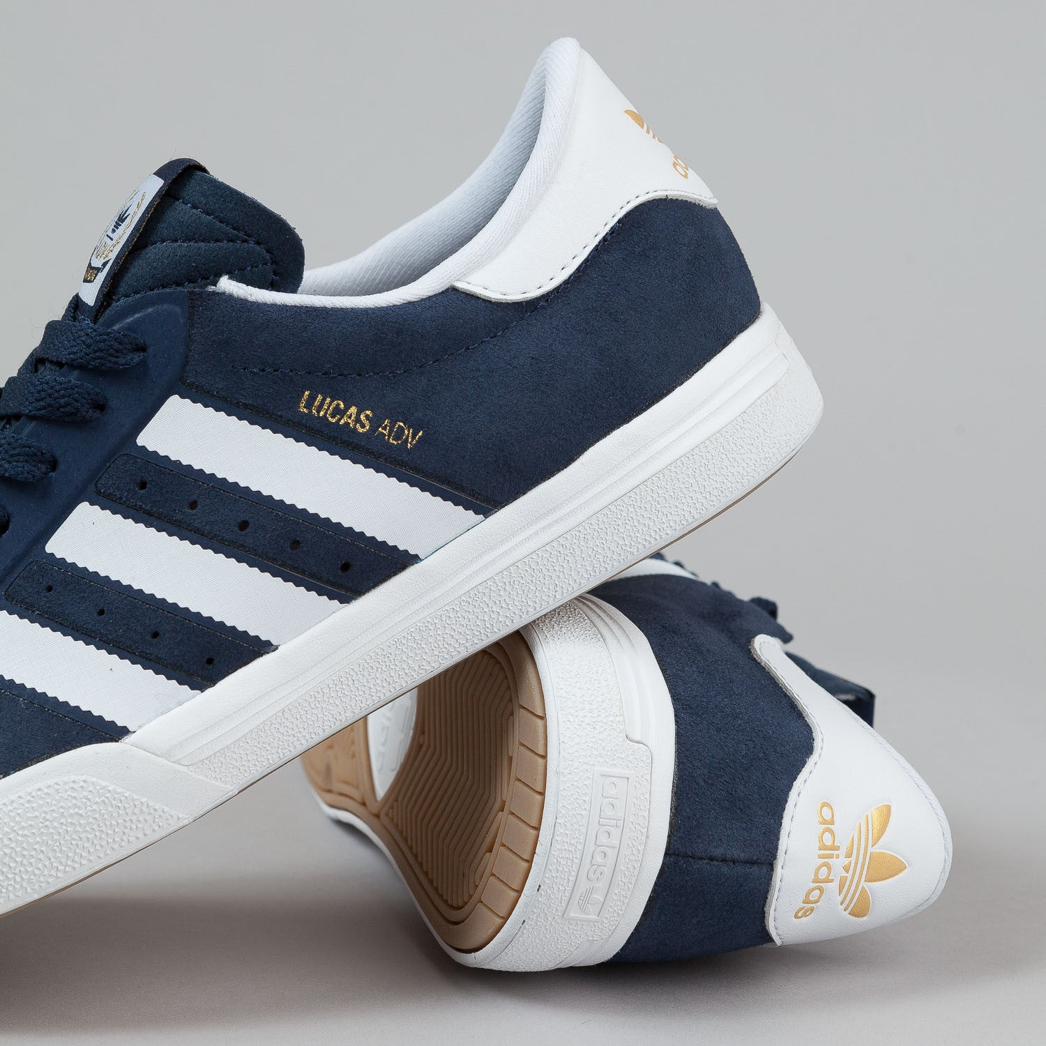 Adidas Lucas ADV Shoes - Navy / White / Metallic Gold