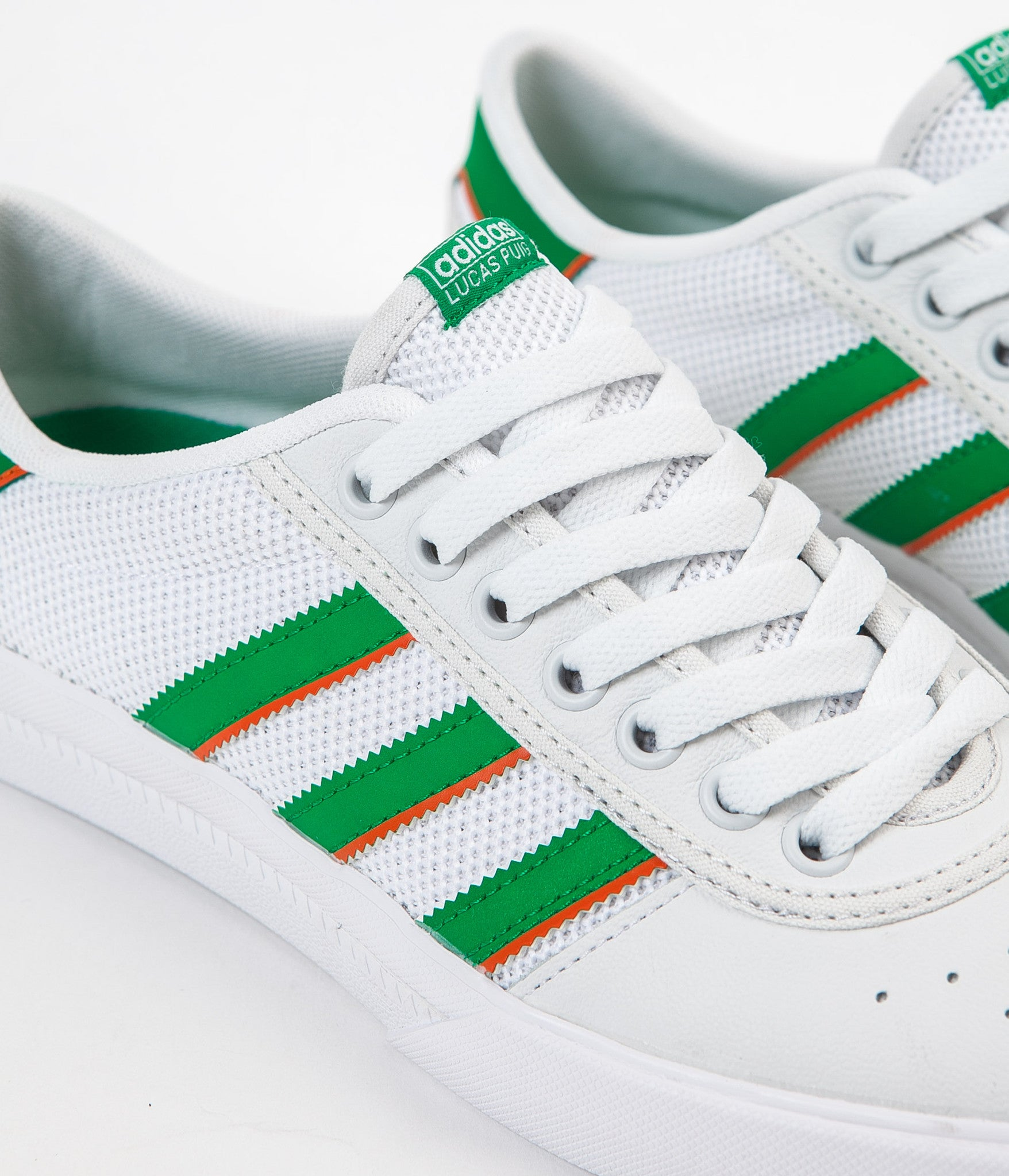 Adidas Lucas Premiere Adv Shoes - White / Green / White