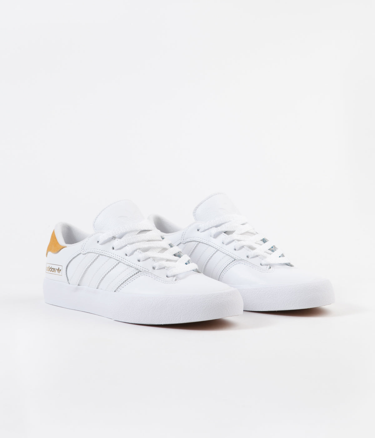 Adidas Matchbreak Super Shoes - White / Tactile Yellow / White