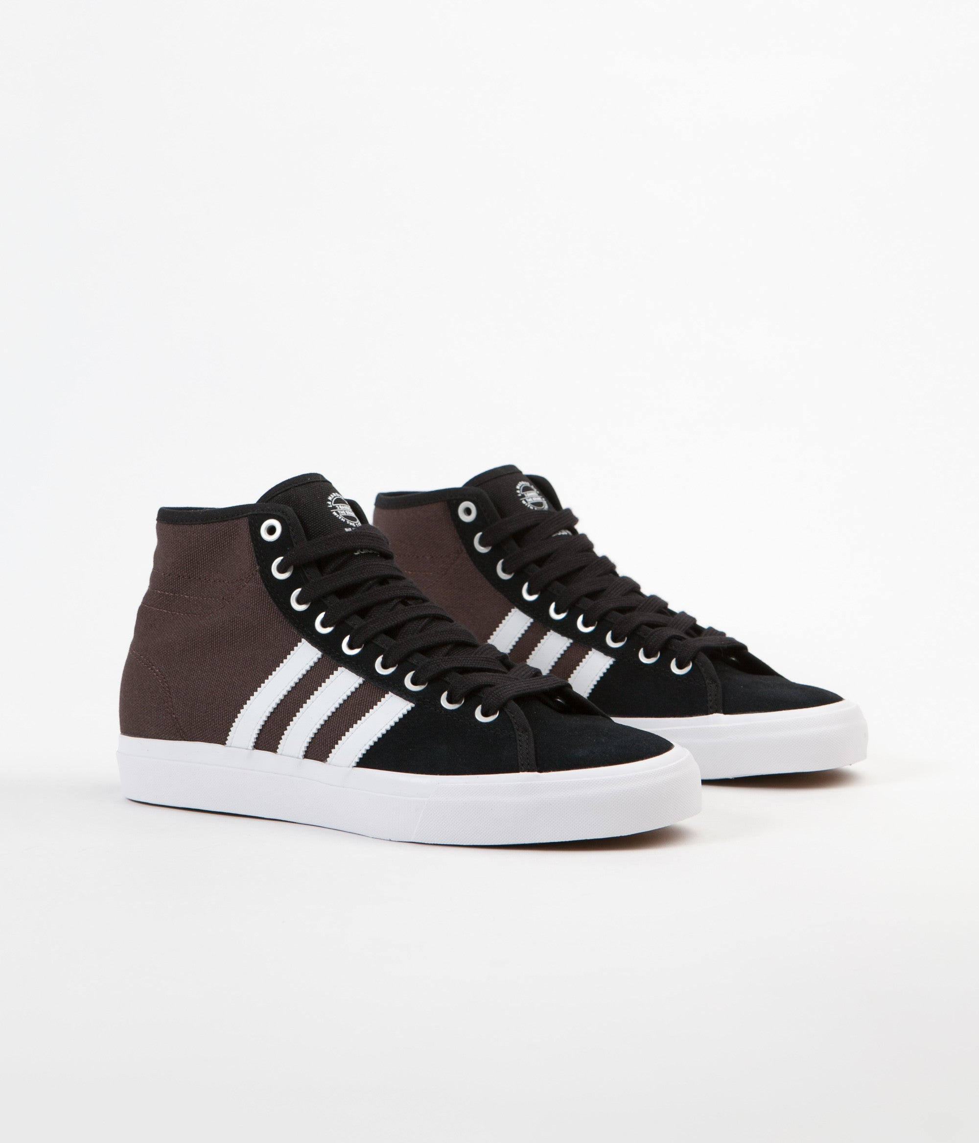 new product 3cf91 51a0c ... Adidas Matchcourt High RX Shoes - Core Black   White   Brown ...
