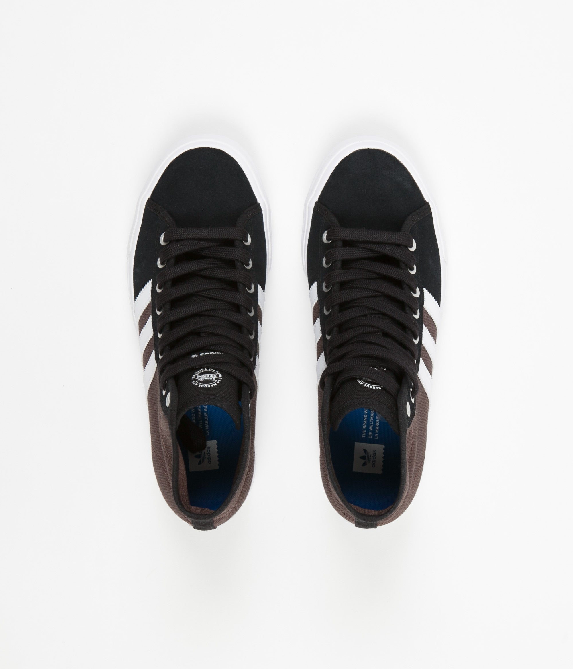 Adidas Matchcourt High RX Shoes - Core Black / White / Brown