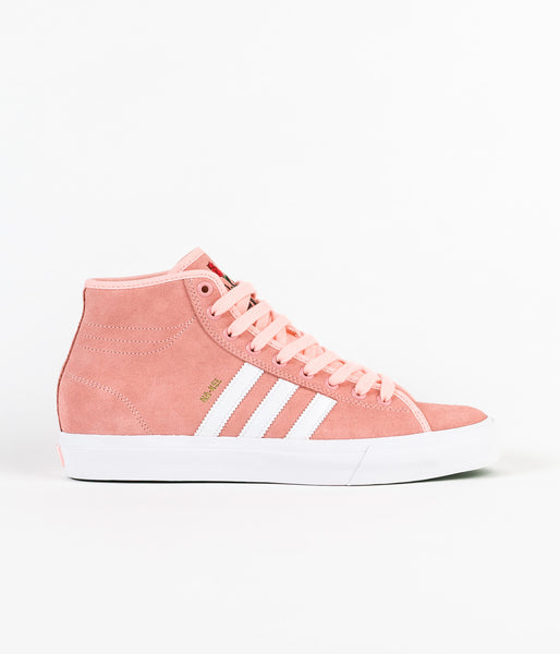 Adidas Matchcourt High RX 'Nakel' Shoes - Haze Coral / White / Haze Coral