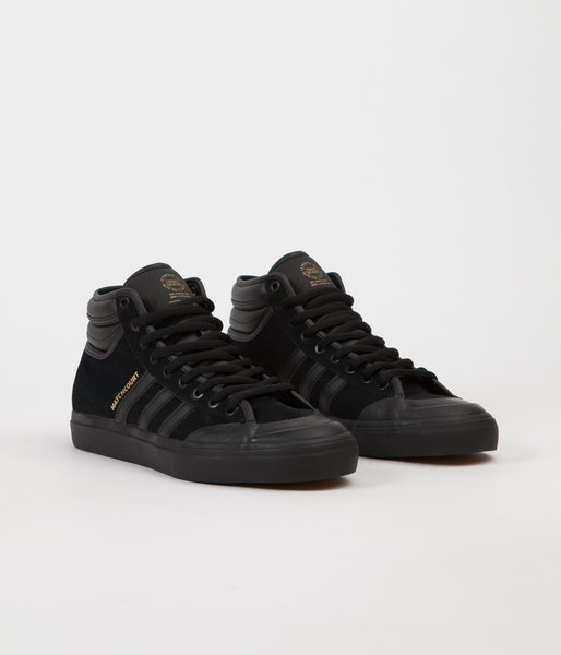 4f0a2b3e475 Adidas Matchcourt High RX2 Shoes - Core Black   Core Black   Gold Meta