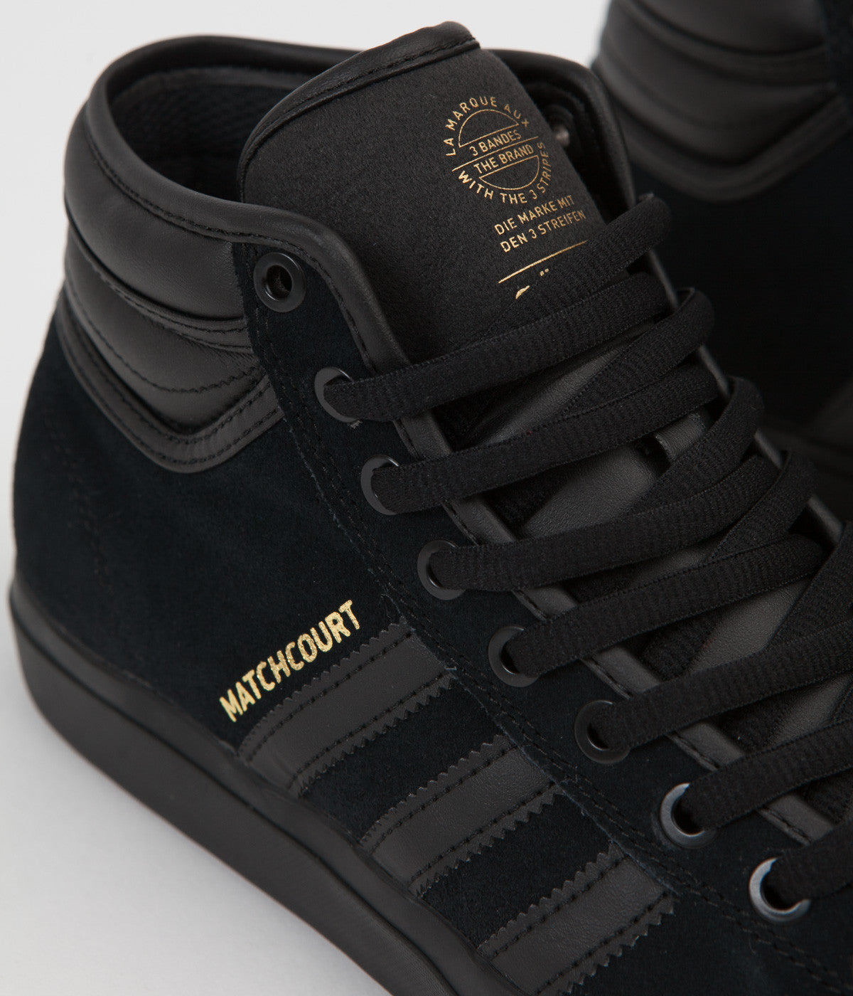 10193b4b25e ... Adidas Matchcourt High RX2 Shoes - Core Black   Core Black   Gold  Metallic ...