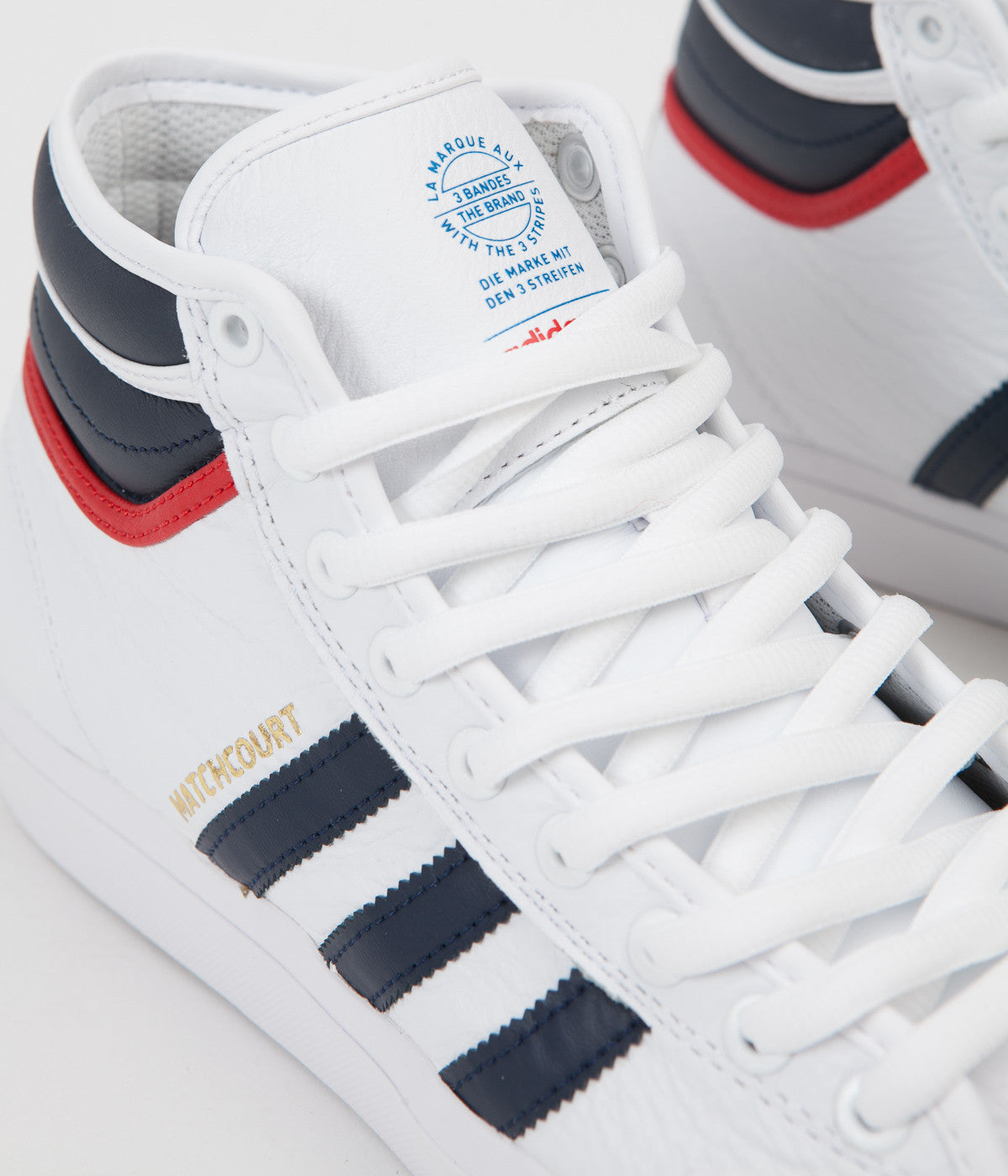 Adidas Matchcourt High RX2 Shoes - White / Collegiate Navy / Scarlet