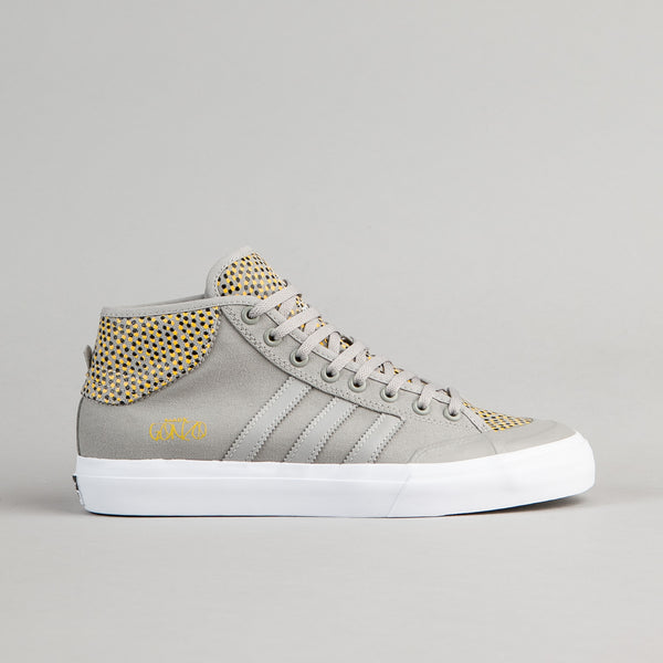 Adidas Matchcourt Mid ADV Shoes - Solid Grey / Yellow / White