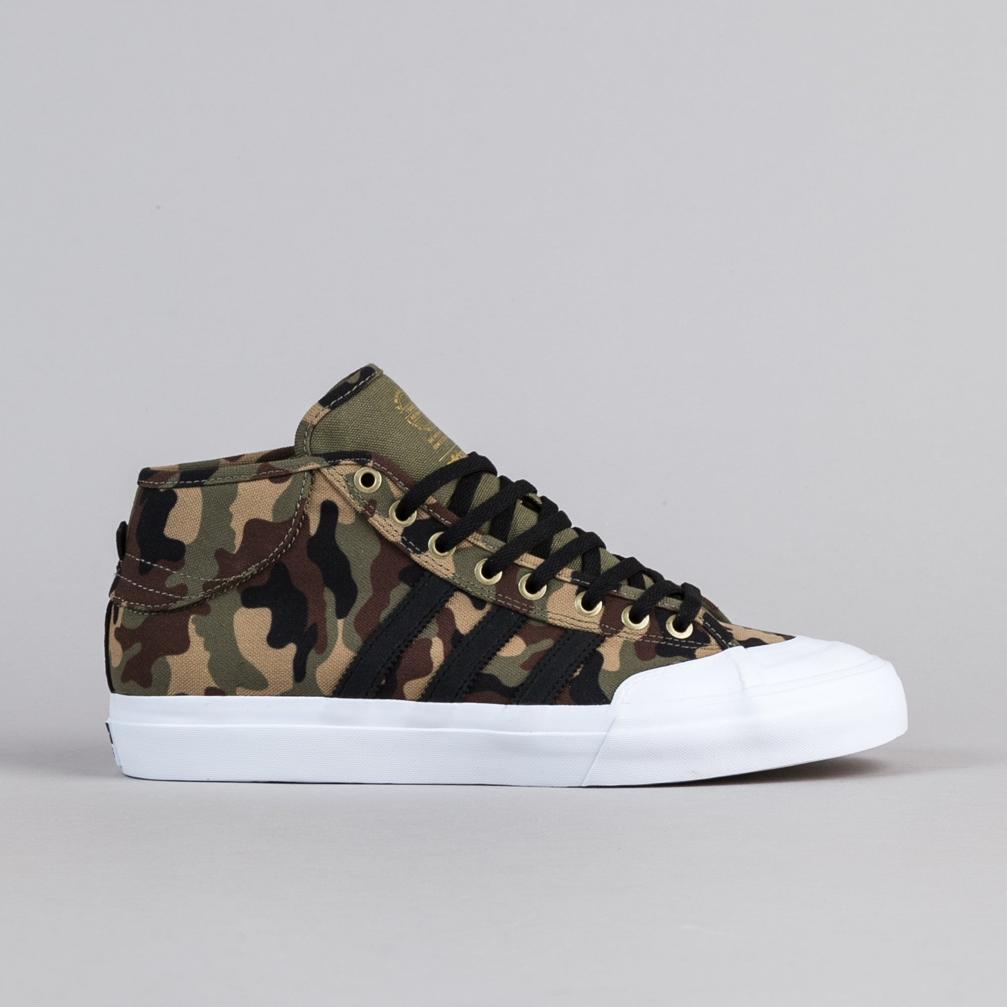 Adidas Matchcourt Mid ADV Shoes - Tent Green / Core Black / White