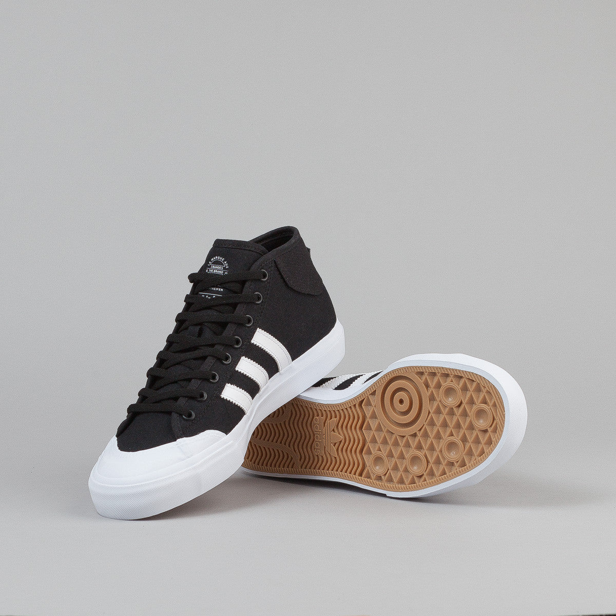 Adidas Matchcourt Mid Shoes - Core Black / FTW White / FTW White