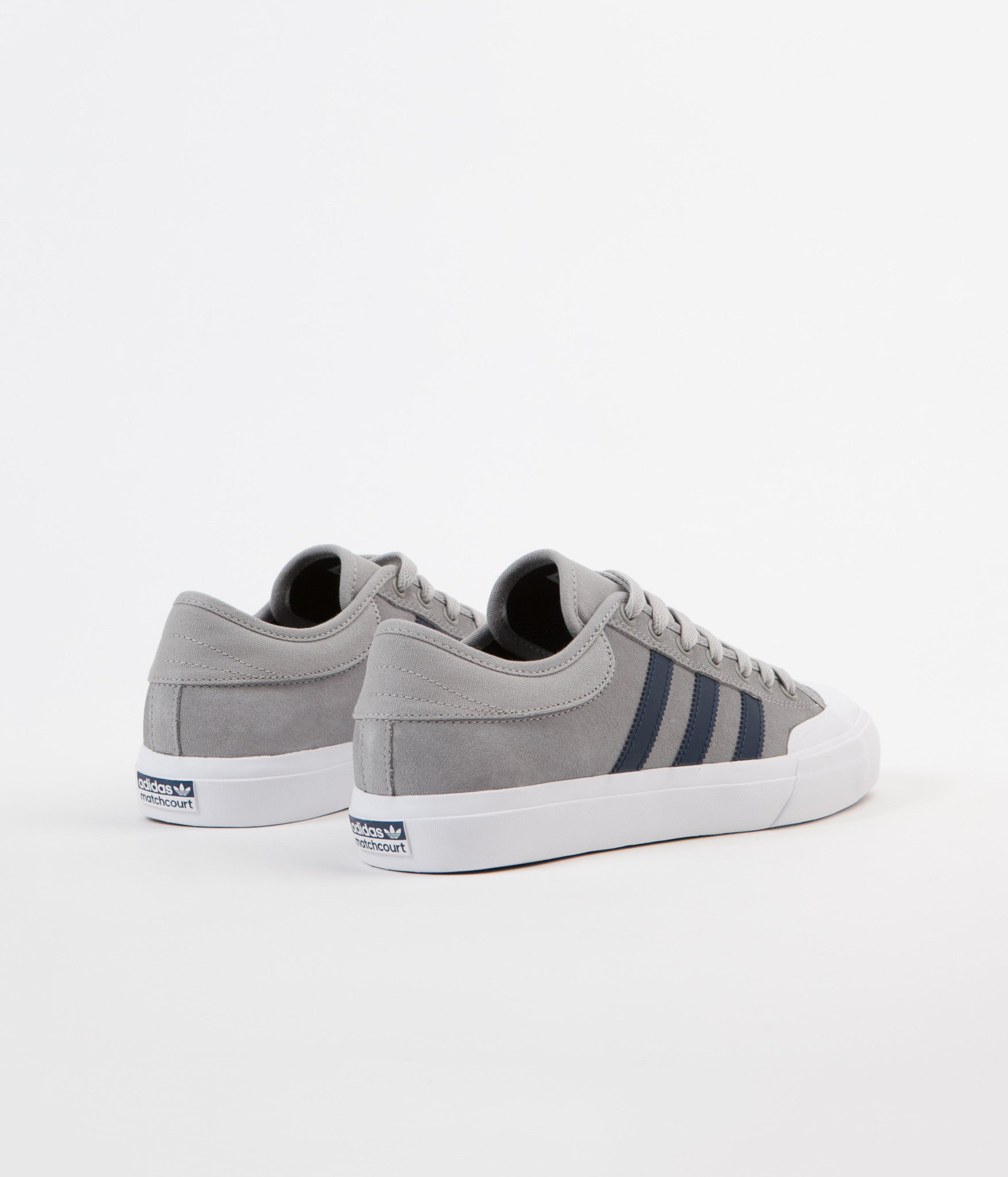 Adidas Matchcourt Shoes - Solid Grey / Collegiate Navy / White
