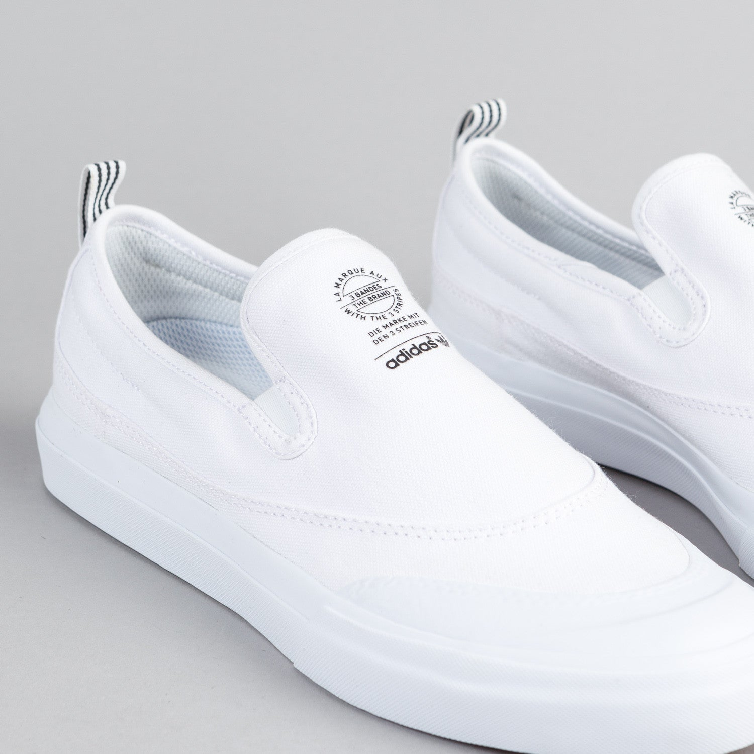Adidas Matchcourt Slip On Shoes - FTW White / FTW White / FTW White