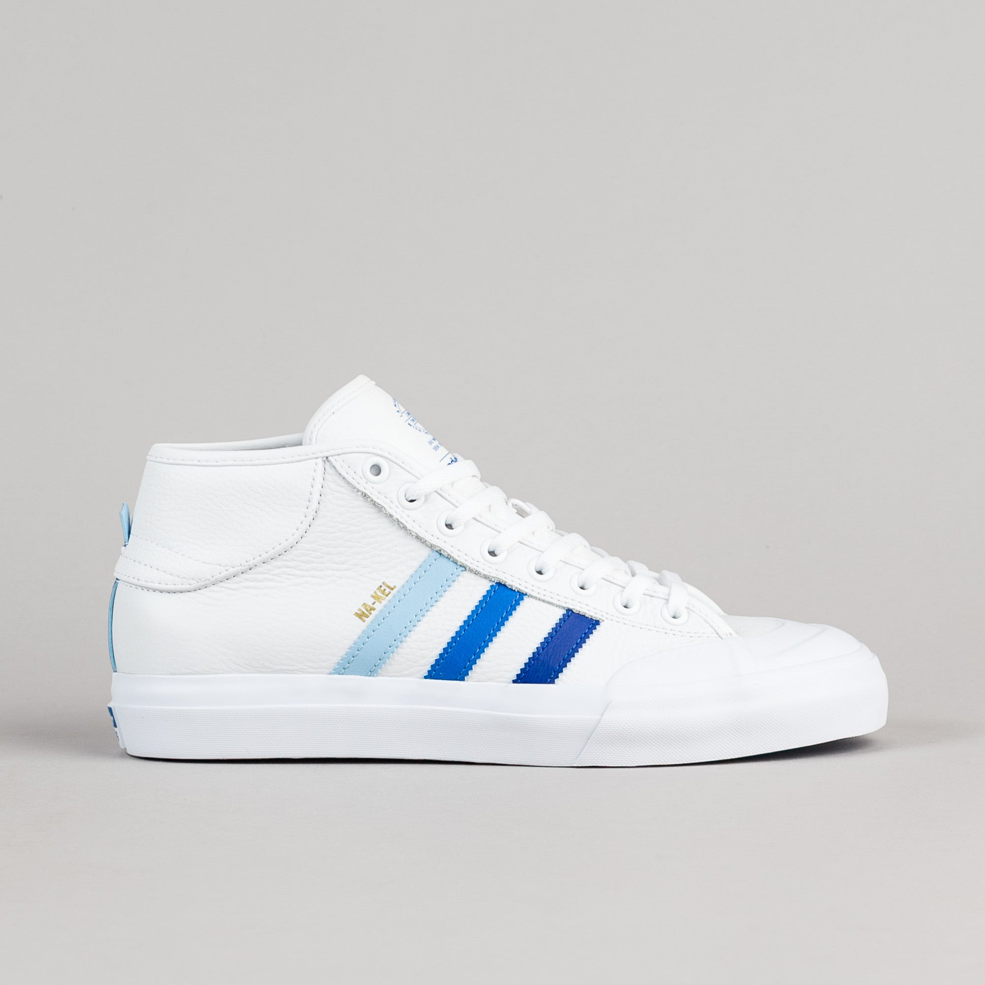 Adidas Na-Kel Matchcourt Mid ADV Shoes - White / Collegiate Royal / Bluebird